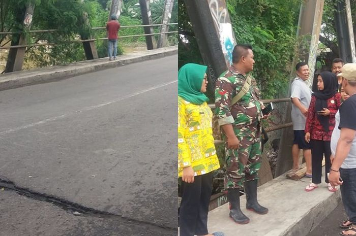 Jembatan di daerah Bekasi Utara - Timur goyang