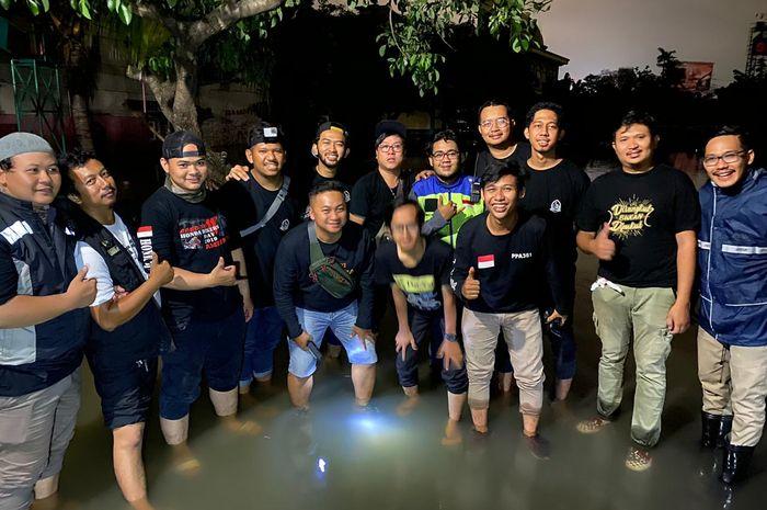 Komunitas Bikers Dakwah berikan bantuan langsung pada korban banjir
