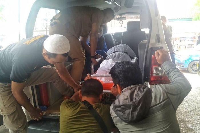 Seorang driver ojek online warga Jalan Suryakancana, Desa Sukamanah, Cisaat bernama Taufik Hidayat (49) tewas pada Minggu (5//1/2020) malam.