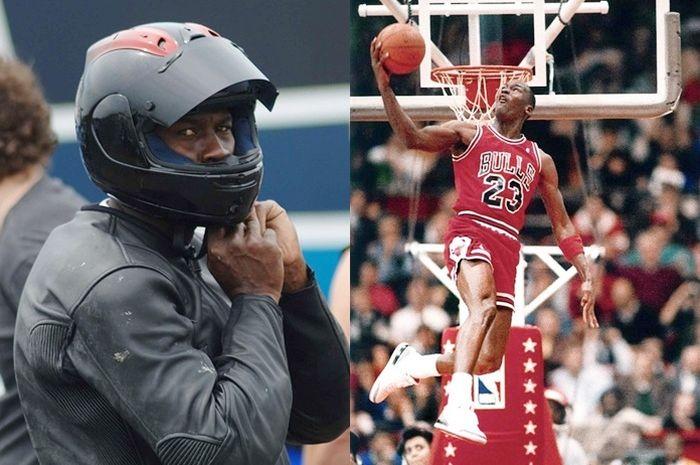 Pemain basket legendaris Michael Jordan juga doyan naik motor