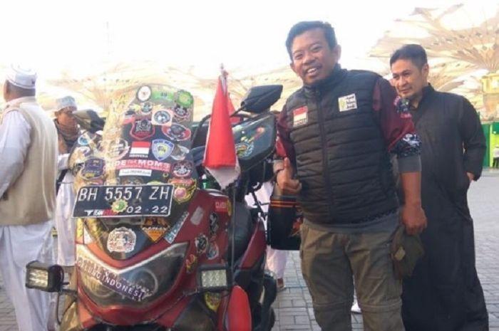 Lilik Gunawan, biker asal Jambi ini telah menuntaskan misinya turing ke Mekkah.