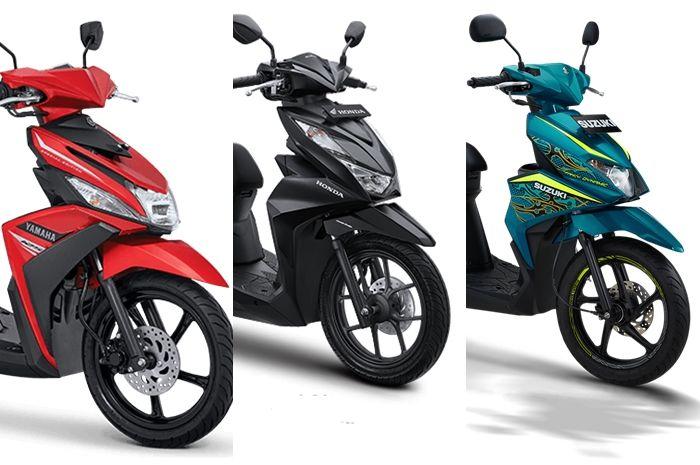 Perbandingan motor matic 110 cc - 125 cc, ada All New Honda BeAT, Yamaha Mio M3, dan Suzuki Nex II.