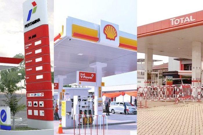 SPBU Total  dan Shell sudah menaikkan harga bensin