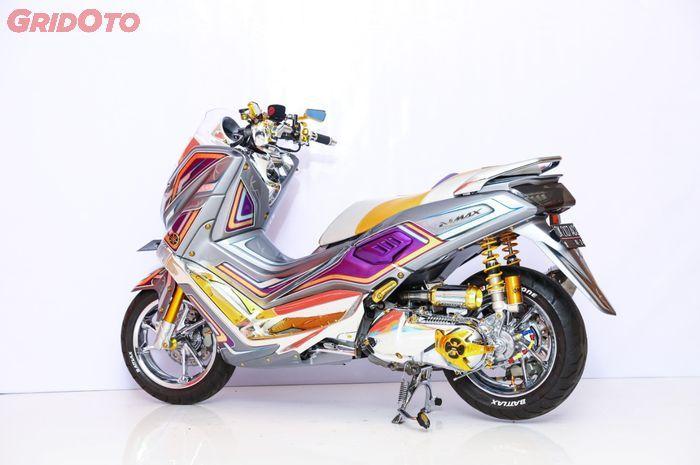 Yamaha NMAX juara kelas daily Customaxi Denpasar, mentereng abis