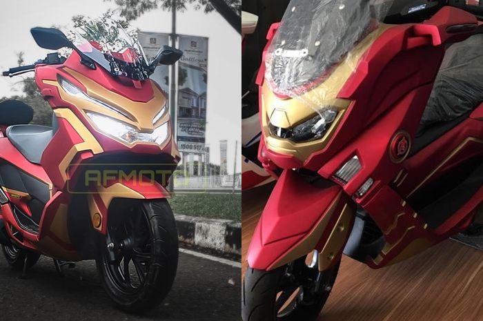 Tampilan Honda PCX 150 Marvel dan Yamaha NMAX Ironmax, keren mana?