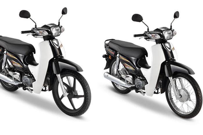 Honda EX5 yang mirip dengan Honda Astrea series ada dua tipe, yang pakai pelek jari-jari dan palang