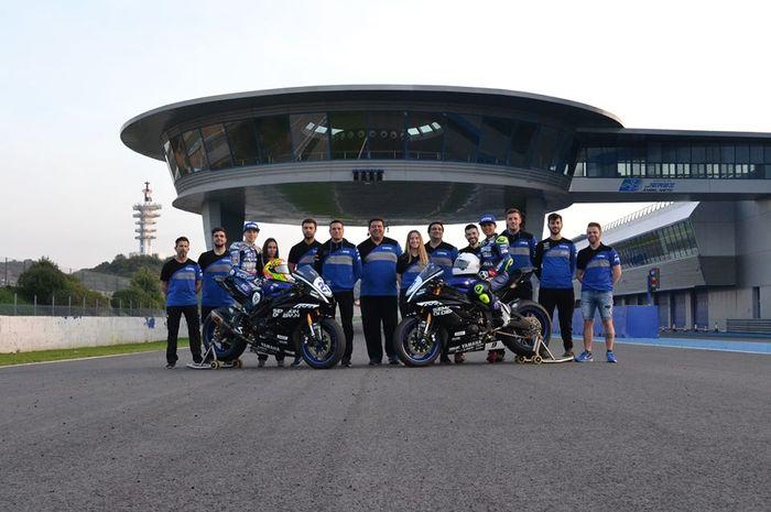 Galang Hendra Pratama bersama tim bLU cRU Yamaha WSS Team by MS di tes pramusim 2020 Jerez, tantangan berat tak hanya motor balap baru tapi juga sirkuit lebih banyak beberapa di antara belum dikenal Galang Hendra