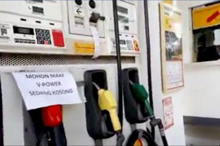 Stock Shell V-Power 95 kosong di SPBU kawasan Tebet Jakarta Selatan