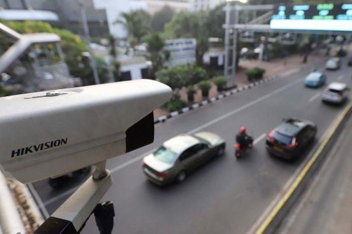 Ilustrasi kamera CCTV E-TLE atau E-Tilang