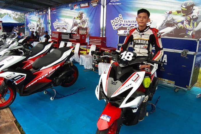 M. Andrias Lukito pertama kali turun di Aerox Fun Race di YCR 2020 Boyolali langsung jatuh cinta dan nerasa jadi pembalap beneran