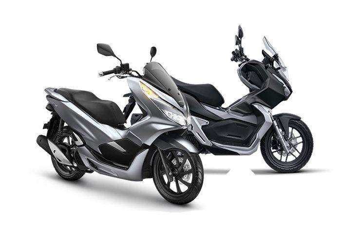 Ilustrasi Honda PCX 150 dan ADV150.