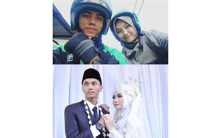 Seorang driver ojek online (ojol) menikahi customernya sendiri setelah melakukan pedekate (pendekatan) selama 4 bulan.