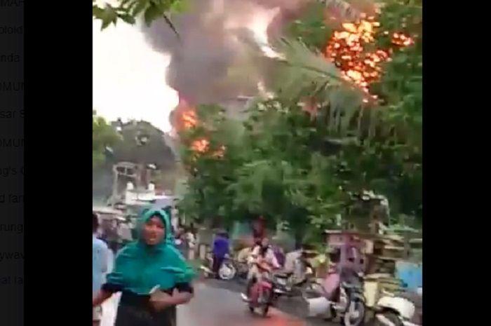 Pertamini terbakar di Probolinggo, korban 50 orang, 1 orang tewas.