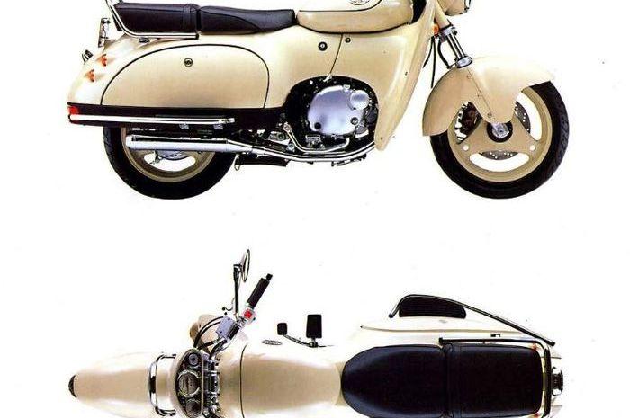 Suzuki SW-1 motor sport lawas desainnya unik