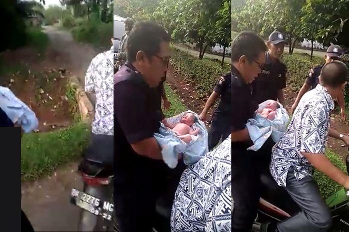 Evakuasi ditemukannya bayi dikantong kresek pakai motor