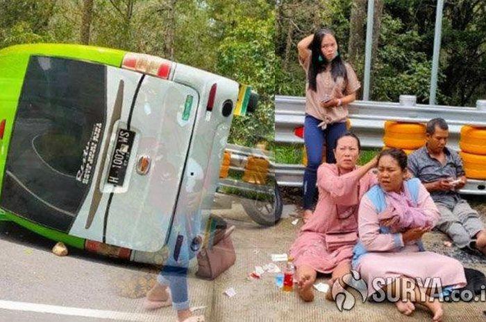 3 Pemotor Wanita Lagi Asyik-asyiknya Selfie di Pinggir Jalan, Tiba-tiba Diseruduk Minibus
