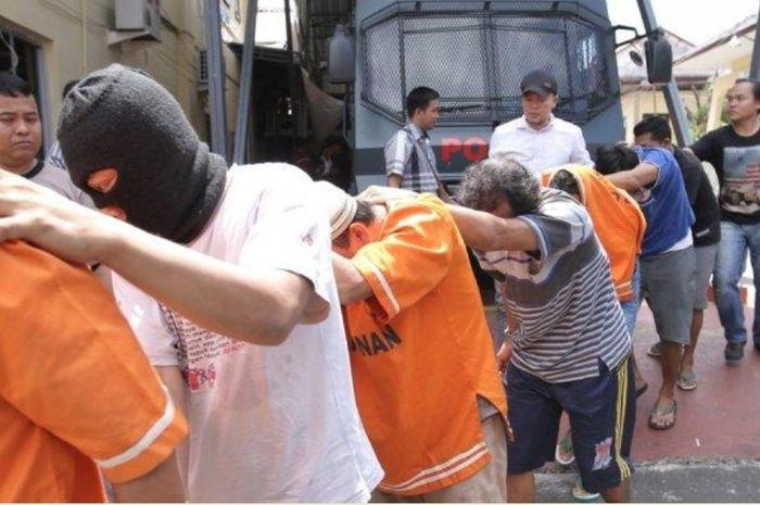 Beberapa debt collector ditangkap Polda lampung dalam Operasi Cempaka Krakatau 2020