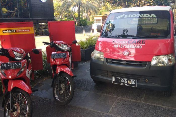 Layanan servis motor Honda, yaitu Honda CARE siap servis motor di rumah.