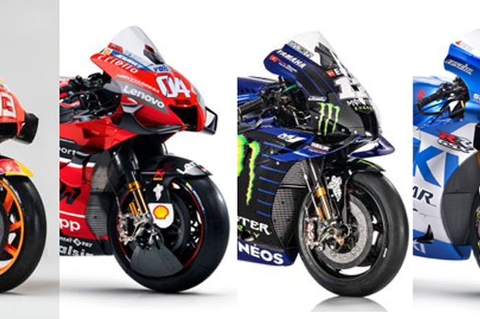 Kuartet motor MotoGP mulai Honda, Ducati, Yamaha dan Suzuki memiliki nama unik masing-masing
