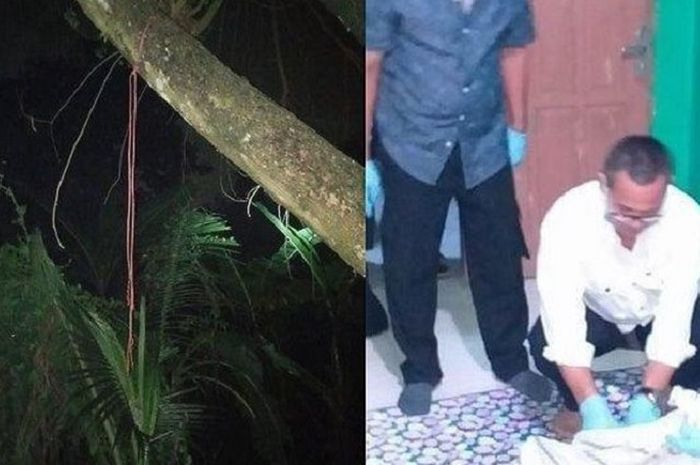 Seorang berinisial JI (33) ditemukan meninggal dunia di belakang rumahnya pada Senin (6/4/2020) sore.