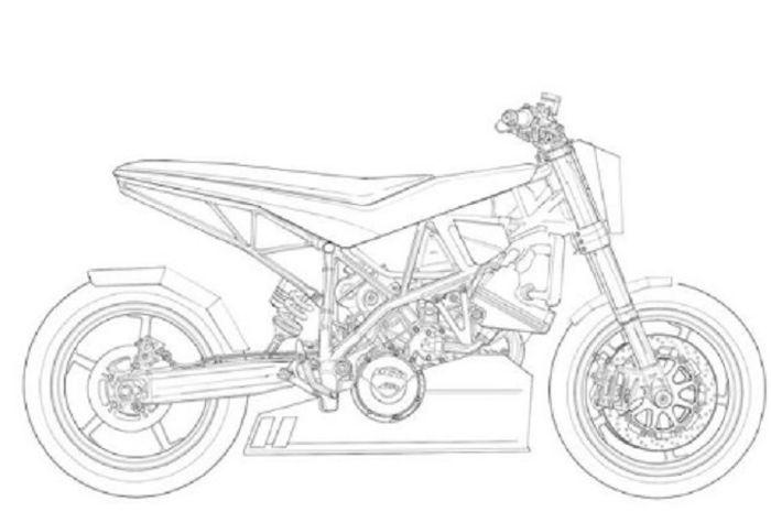 Buku gambar motor custom karya Ian Galvin dan Adam Kay.
