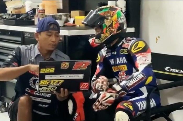 Kelakuan Pembalap Indonesia Wahyu Aji Trilaksana Ketika Kangen Dengan Atmosfer Balap