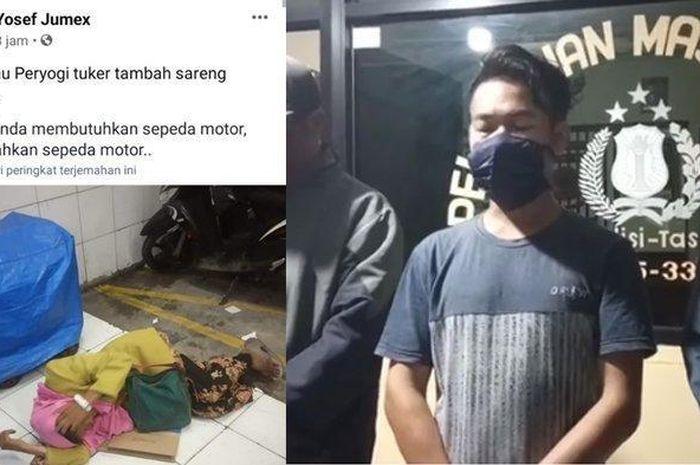 Seorang pemuda membuat postingan ingin menukar nenek yang sedang tertidur dengan sebuah sepeda motor viral di media sosial.