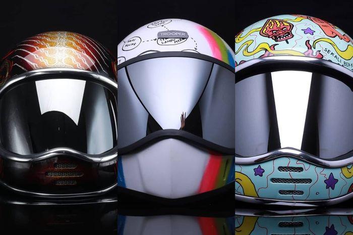 Trooper Custom Helmet melelang tiga helm untuk melawan virus Corona