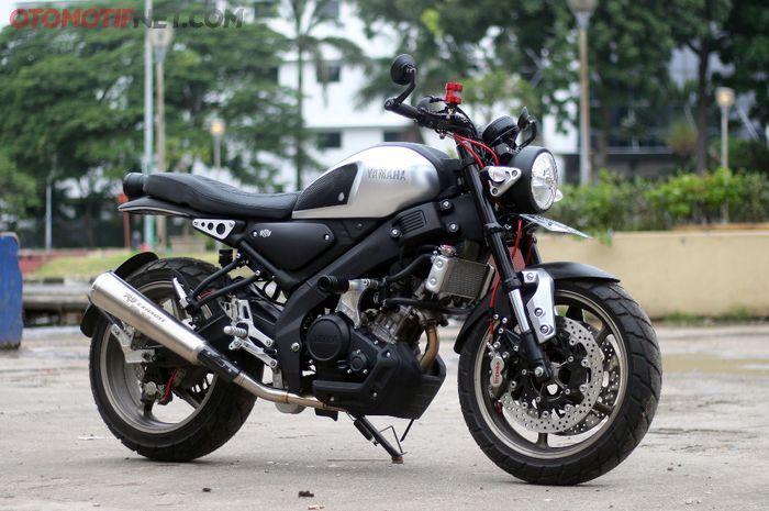 Modifikasi Yamaha XSR 155 ini berfokus pada bagian kaki-kaki