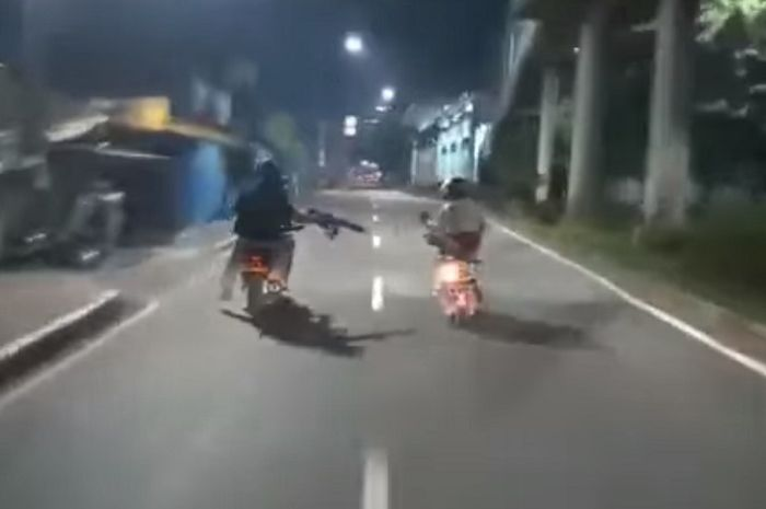 Begal sadis ditembak polisi di Jakarta Timur.