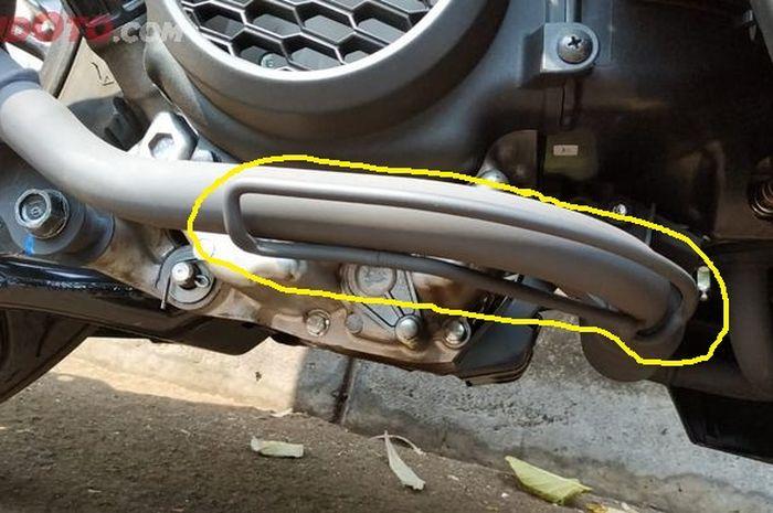 Pada area leher knalpot All New Honda BeAT atau Honda Genio terdapat kawat yang melingkar