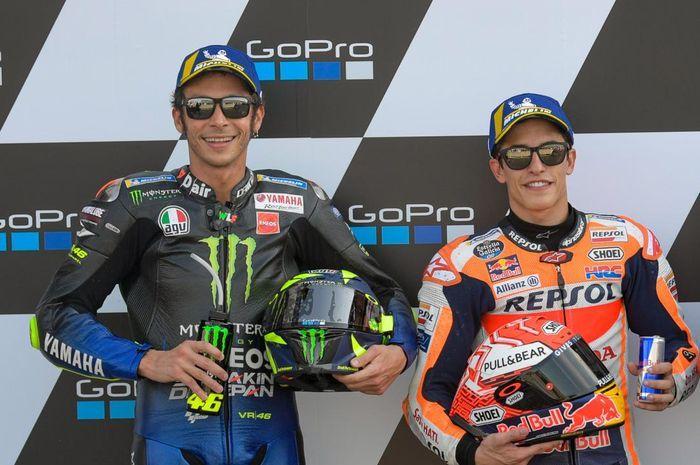 Ilustasi. Ada kerugian yang bakal dialami Valentino Rossi dan Marc Marquez akibat batalnya 3 ronde MotoGP, apa saja?