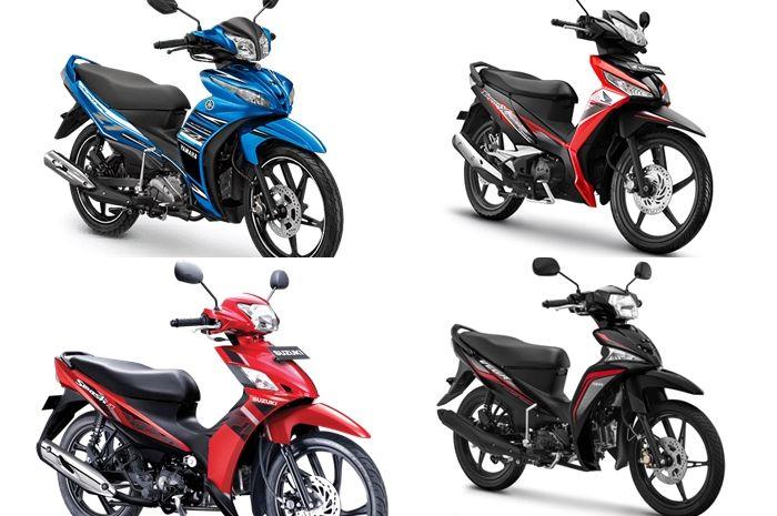 Ilustrasi motor bebek. ada motor baru yang dijual cuma Rp 15 jutaan.