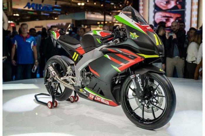 Siap lawan Kawsaki Ninja 250 silinder, motor baru Aprilia RS250 SP meluncur lebih dulu, segini harganya.