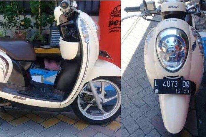 Sepasang suami istri asal Gresik, Jawa Timur, terkena penipuan setelah berniat menjual motor Honda Scoopy, Minggu (10/5/2020).