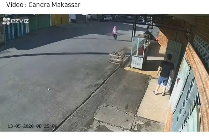 Seorang ibu-ibu jadi korban jambret di Makassar
