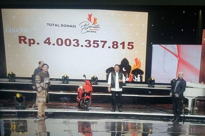 Lelang skuter listrik Gesits terjual Rp 2,55 miliar di acara lelang Bersatu Melawan Corona, Minggu (17/5/2020)