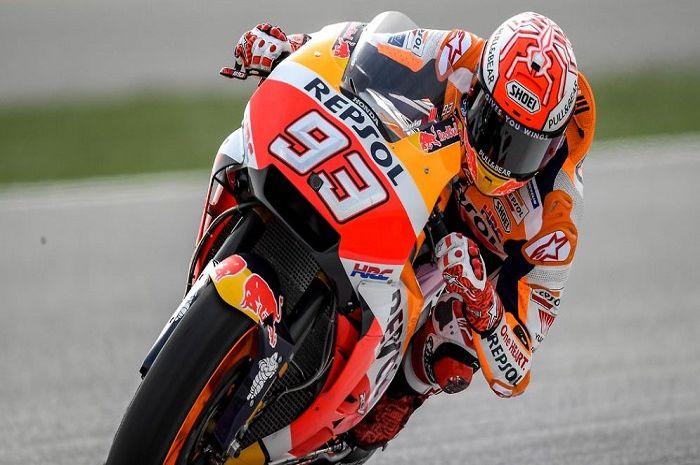 Ilustrasi. Gaya balap Marc Marquez unik banget, pembalap MotoGP ini sampai bilang haram.