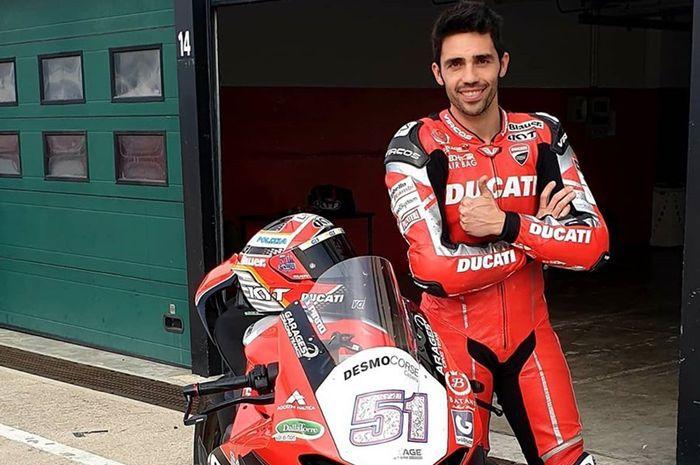 Test rider, Michele Pirro, bakal jadi kekuatan tambahan tim Ducati pabrikan di MotoGP Italia 2019