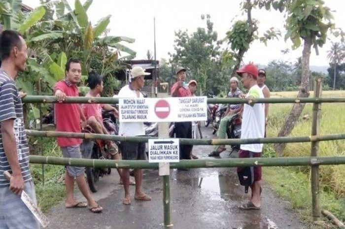 Ilustrasi. Gara-gara pemudik asal Jakarta positif virus corona, satu kampung langsung dikarantina.