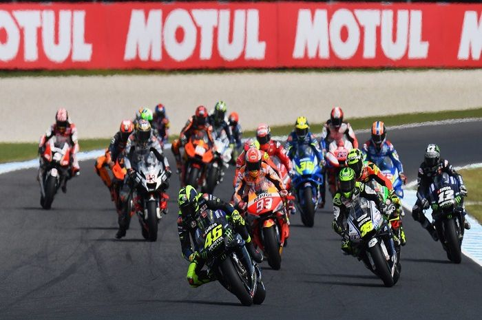 Ilustrasi. Balapan MotoGP disaranin pakai penonton palsu, ini balasan menohok Dorna Sports.