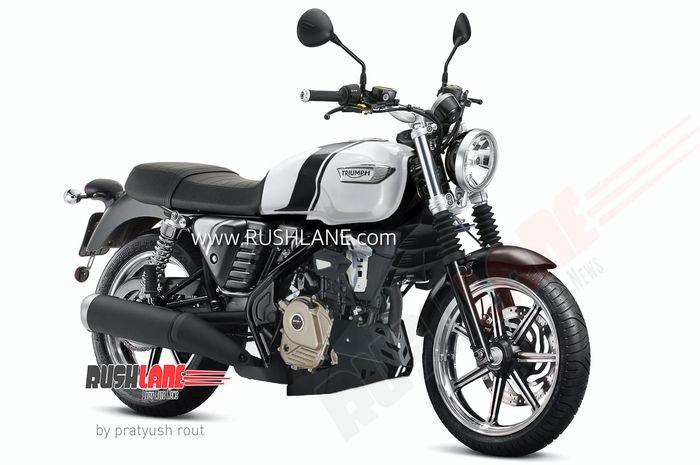 Gambar render motor Bajaj Triumph 200