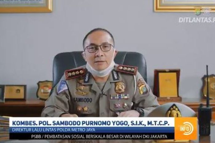 Direktur Lalu Lintas Polda Metro Jaya Kombes Sambodo Purnomo klarifikasi pawai moge