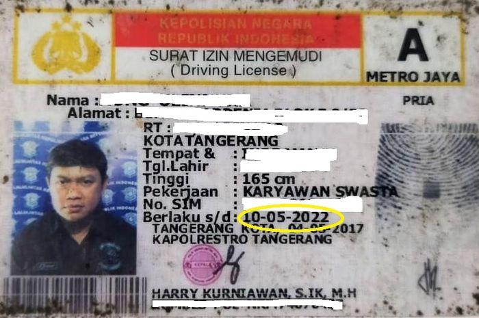 Ilustrasi masa berlaku SIM