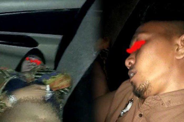 Pasangan mesum PNS/ASN yang ditemukan aparat kepolisian dalam keadaan pingsan di dalam mobil, di Kisaran, Asahan