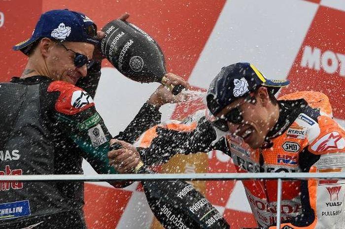 Disebut-sebut akan menjadi rival dari Marc Marquez, pembalap tim Petronas Yamaha SRT, Fabio Quartararo masih berteman dengannya di luar sirkuit.
