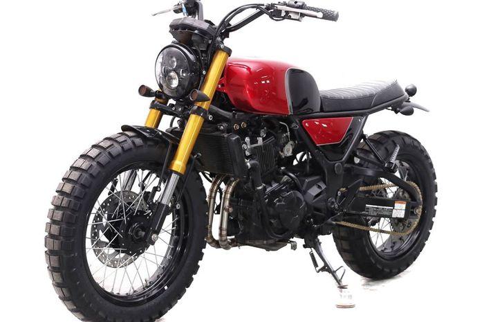 Kawasaki Z250 modifikasi scrambler dari Studio Motor