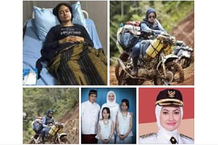 Indah Putri Indiriani  Bupati Luwu Utara, Sulawesi Selatan dikabarkan dirawat usai kecelakaan.