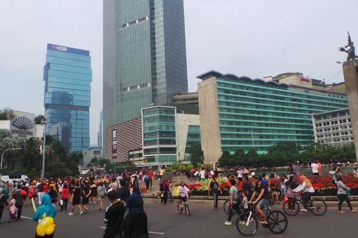 Ilustrasi car free day di Sudirman-Thamrin.