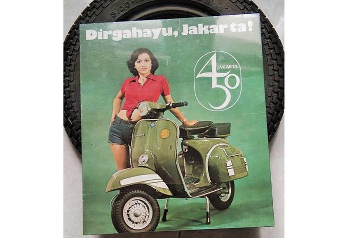 Jarang yang tau, ada Vespa Super 150 Edisi HUT ke-450 DKI Jakarta.